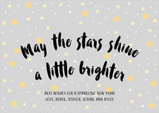 holiday cards - stone - starry sky (set of 10)