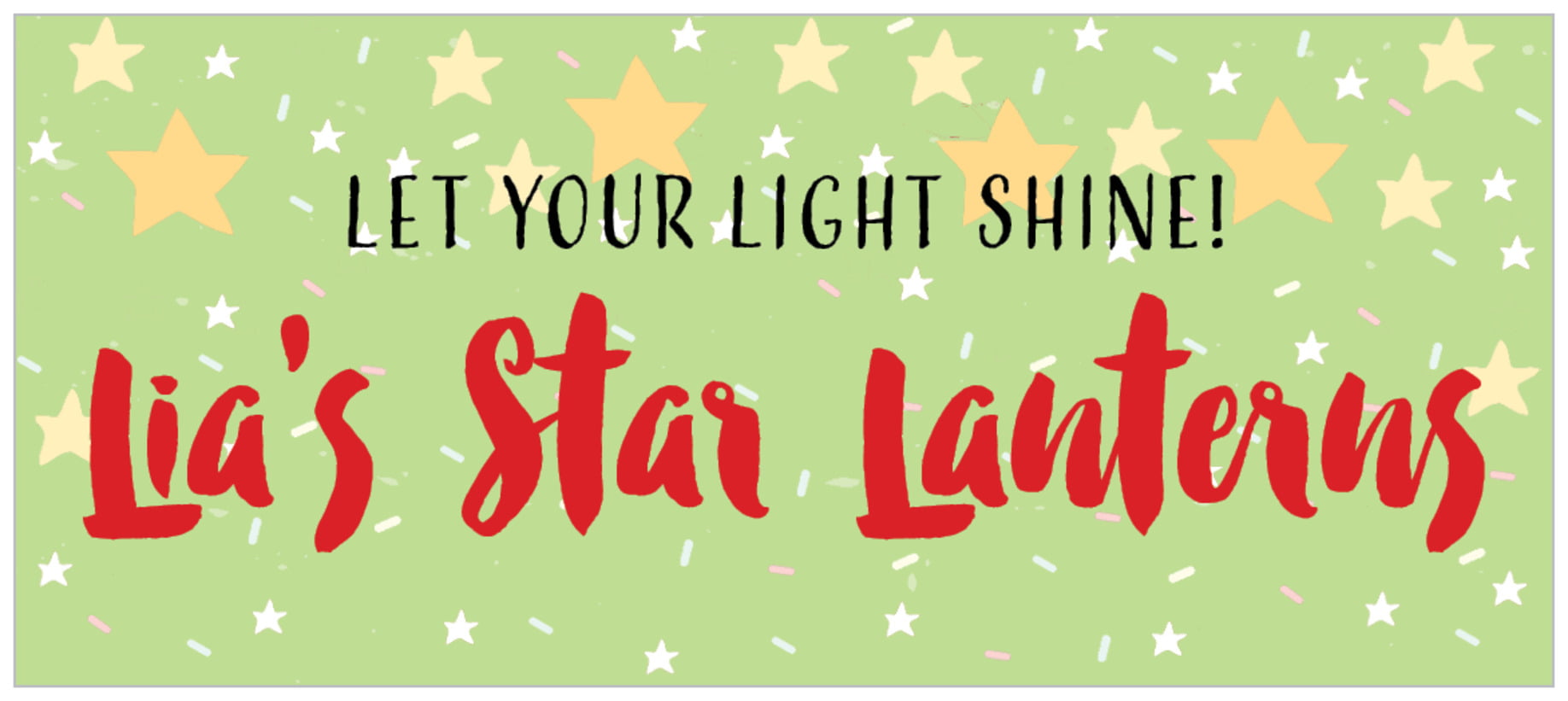 small rectangle food/craft labels - lime - starry sky (set of 24)