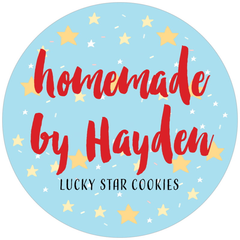 circle food/craft labels - sky - starry sky (set of 12)