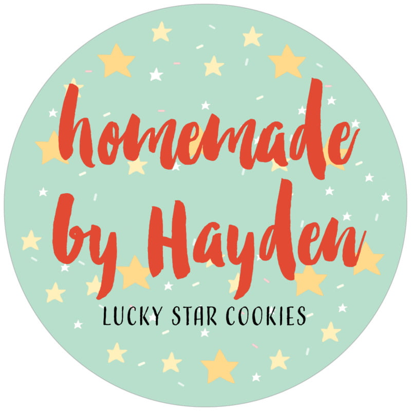 circle food/craft labels - sea glass - starry sky (set of 12)