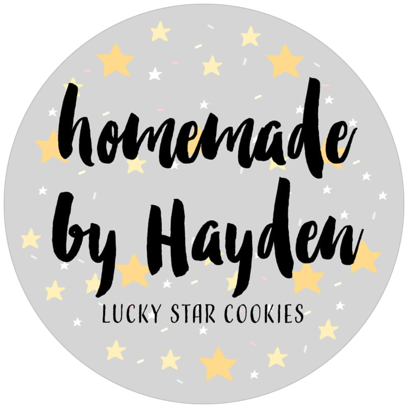 circle food/craft labels - stone - starry sky (set of 12)