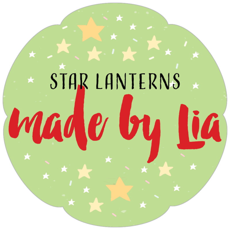 petal food/craft labels - lime - starry sky (set of 30)