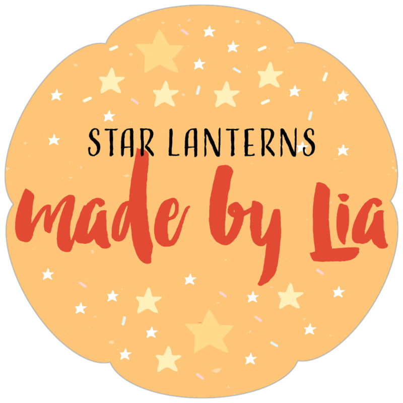 petal food/craft labels - orange - starry sky (set of 30)