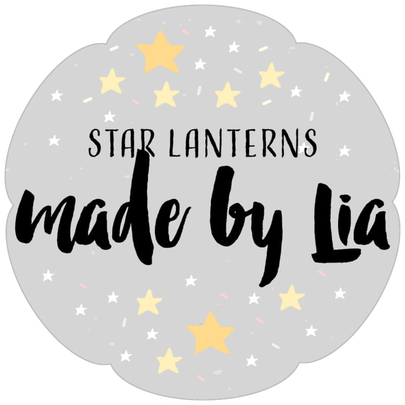 petal food/craft labels - stone - starry sky (set of 30)