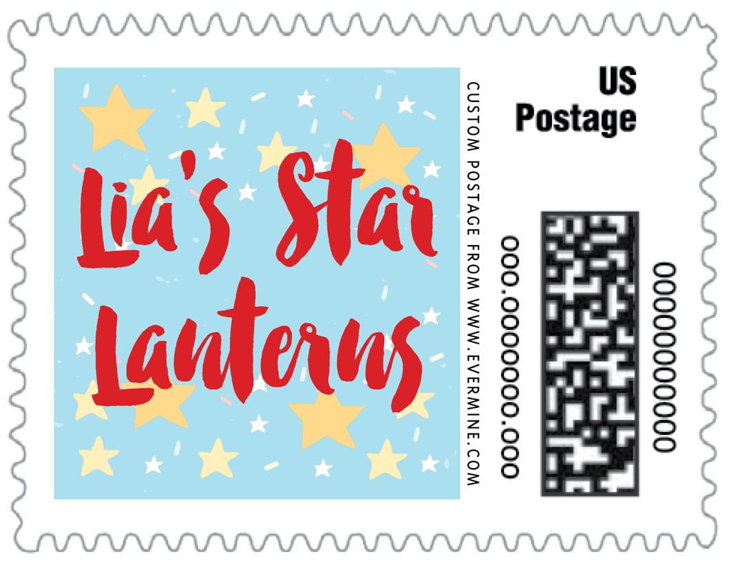 small custom postage stamps - sky - starry sky (set of 20)