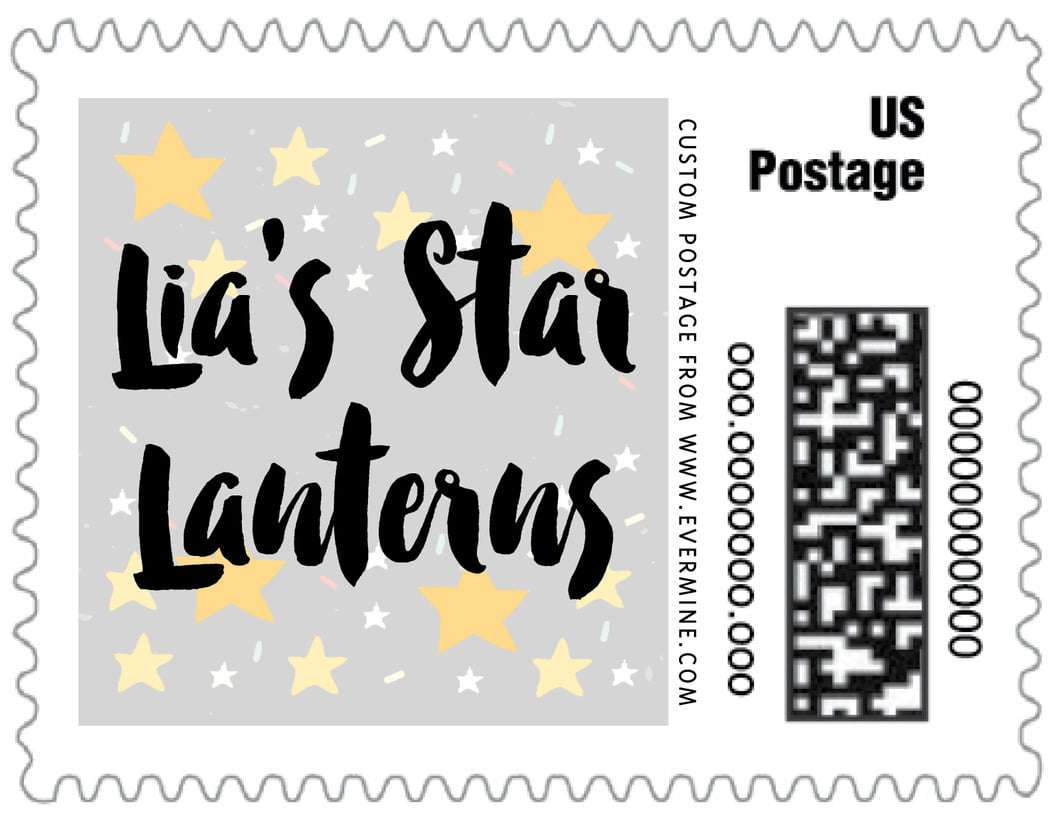 small custom postage stamps - stone - starry sky (set of 20)