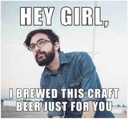 Meme photo beer labels