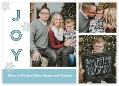 Snow Day Photo Cards - Horizontal In Blue Mist
