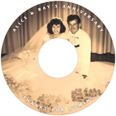 Caption anniversary CD/DVD labels