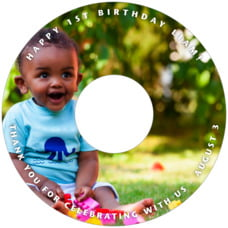 Caption birthday CD/DVD labels
