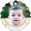 Caption baptism gift tags