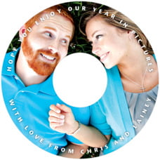 Caption custom CD/DVD labels