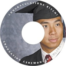 Caption graduation CD/DVD labels