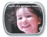 Caption kid/teen birthday mint tins