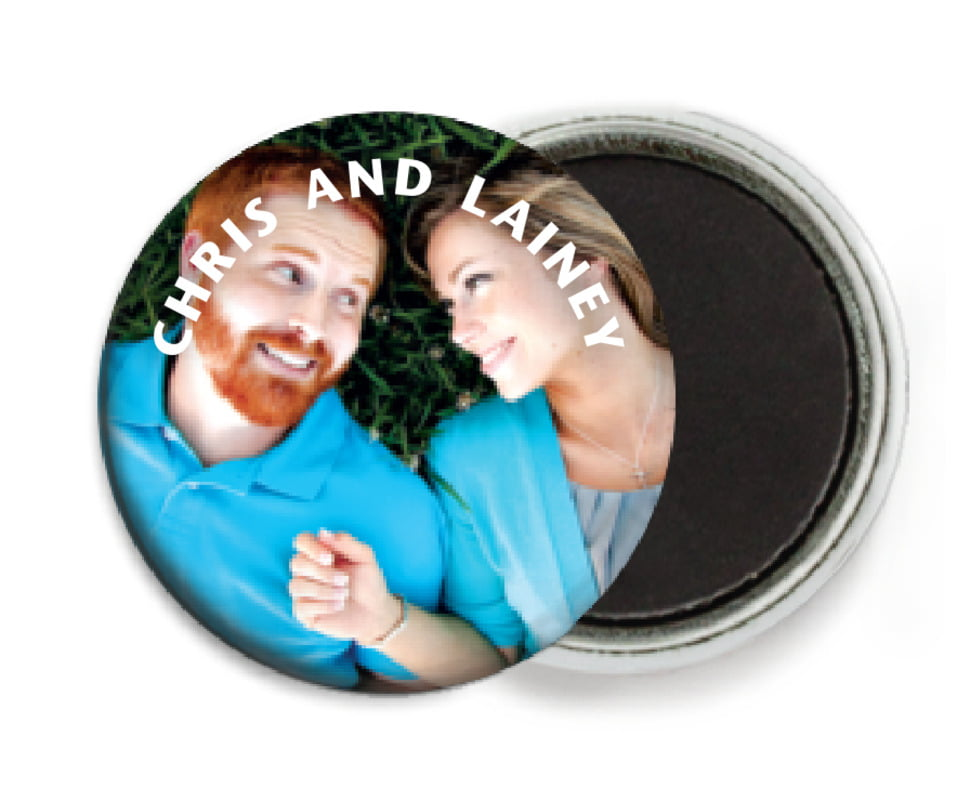 custom button magnets - custom - caption (set of 6)