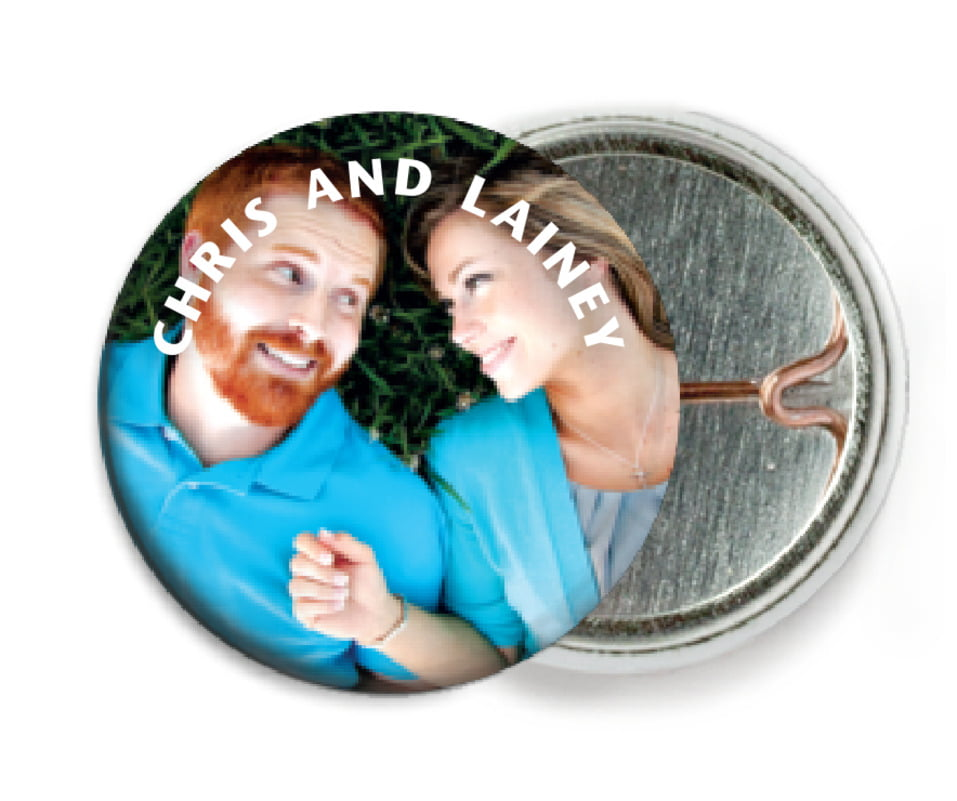 custom pin back buttons - custom - caption (set of 6)