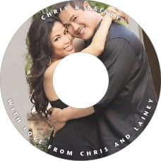 Caption wedding CD/DVD labels