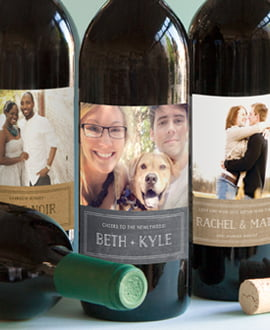 shop anniversary wine labels
