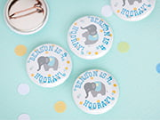baby birthday buttons
