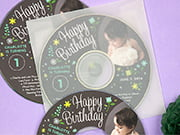 baby birthday CD/DVD labels