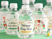 baptism waterbottle labels