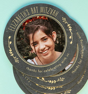 bar mitzvah coasters