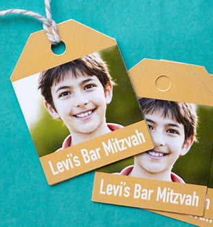 bar mitzvah gift tags