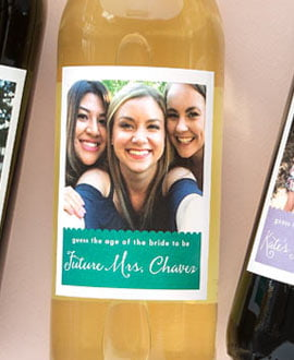 bridal shower wine labels
