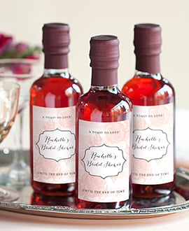 bridal shower favor labels