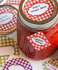 gingham canning kit
