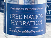 fourth of july bottled water labels