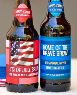 fourth of july labels
