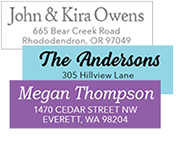 stylish address labels