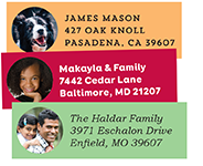 photo address labels - circle