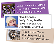 photo address labels - square