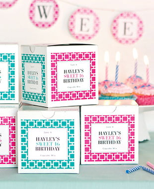 Kid Teen Birthday Labels