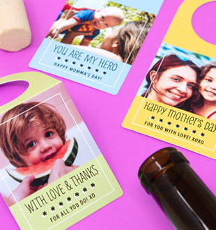 mother's day bottle hangers