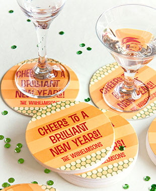 custom coasters new years coasters