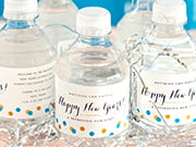 party bottled water labels
