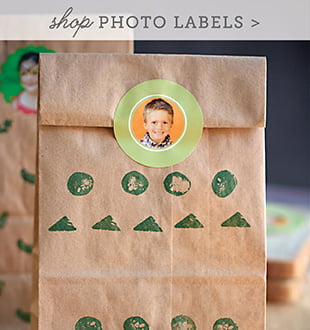 kid photo labels