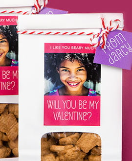 shop valentines day labels