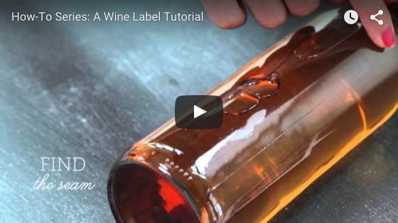 wine label tutorial