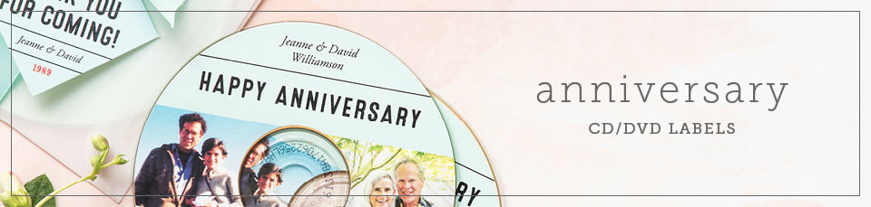 Custom Anniversary CD & DVD Labels