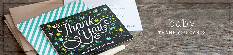 Custom Baby Thank You Cards