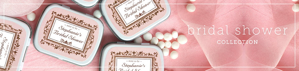 bridal shower mint tins