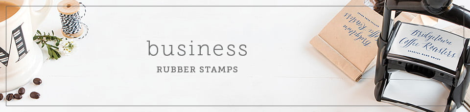 business self-inking rubber stamps