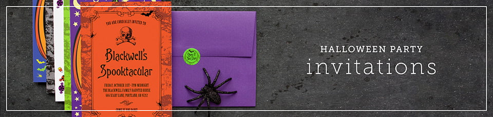 Custom Halloween Party Invitations