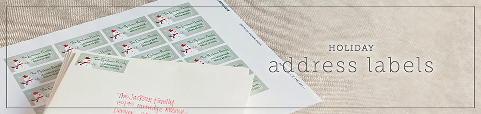 Custom Holiday Address Labels