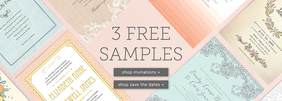 Free Wedding Invitation Samples, Save The Date Samples
