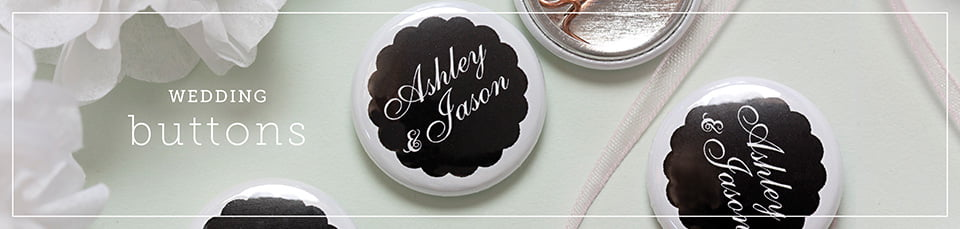 Custom Wedding Buttons & Magnets